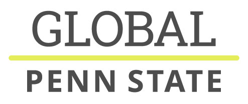 The logo of Penn State Global Programs includes the word Global in large letters and the Penn State name beneath it.