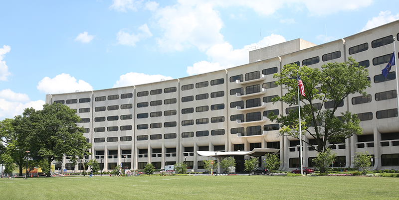Penn State College of Medicine's well-known Crescent is seen at 500 University Drive, Hershey, PA.